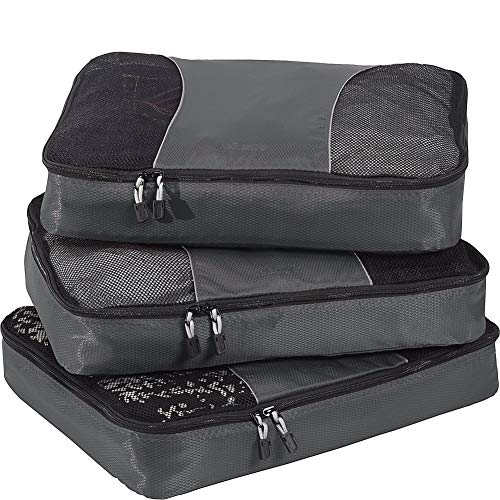 eBags Large Packing Cubes for Travel - 3pc Set - (Titanium)