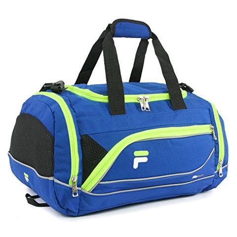 "Fila Sprinter 19"" Sport Duffel Bag, Blue/Neon"