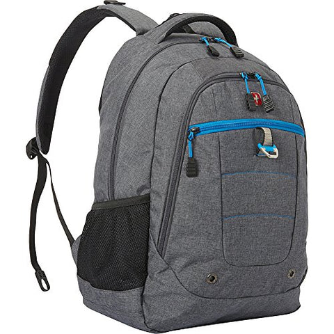 "Swissgear Travel Gear 18.5"" Backpack- Exclusive (Grey Heather/ Cyan Trophy)"