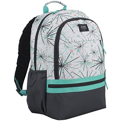 Fuel Ultimate Girls Concept Backpack, Turquoise/Graphite/Star Print