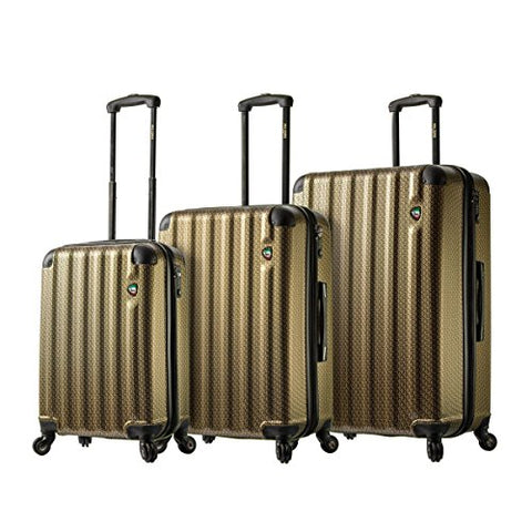 Mia Toro Italy Catena Largo Hardside Spinner Luggage 3PC Set, Gold