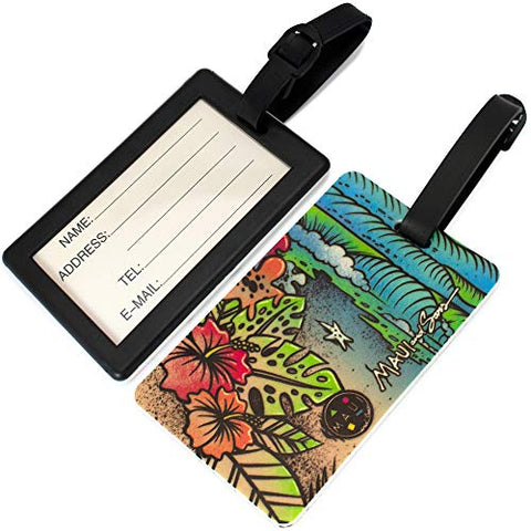 Maui and Sons Surfer Collection Luggage Tag - Pair (Life is a Beach)