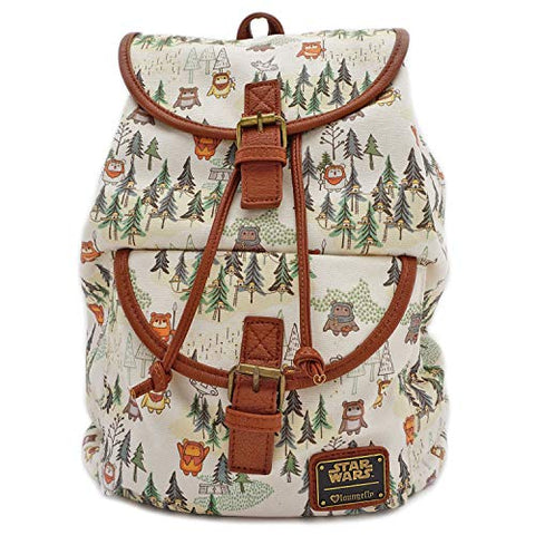 Loungefly x Star Wars Ewok Forest All Over Print Drawstring Backpack