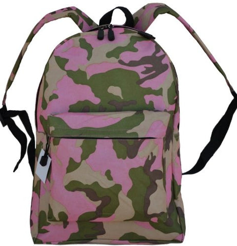 EXPLORER Pink Camo Backpack Book School Bag Napsack