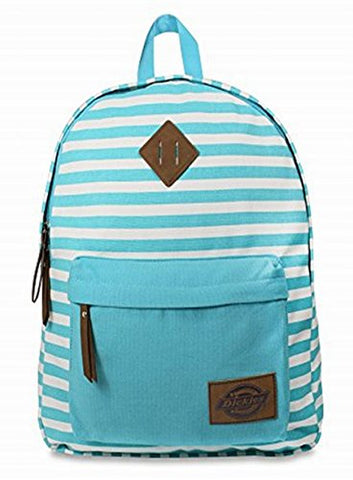 Dickies Cotton Canvas Classic Backpack, Blue Lagoon Stripe