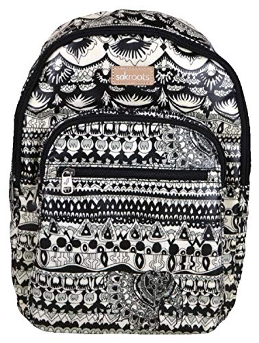 Sakroots Artist Circle Black and White Backpack