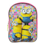 Minions 10 Toddler / Mini Backpack - Pink and Lime Green
