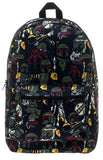 Bioworld Star Wars Boba Fett All Over Backpack (Boba Fett)