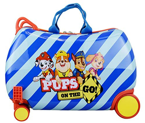 "Nickelodeon Paw Patrol Boys - Girls Carry On Luggage 20"" Kids Ride-On Trunky Suitcase (BLUE)"