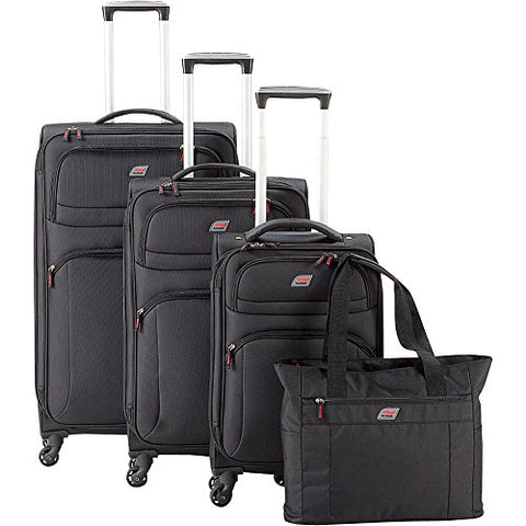 Andare Buenos Aires 4-Piece Luggage Set (Black)
