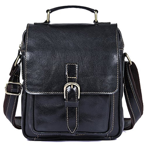 Clean Vintage Leather Cross Body Purse Shoulder Ipad Travel City Bag Retro Design For Men Women
