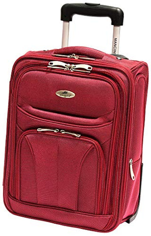 Mancini Leather Goods Wheeled Underseat Carry-on (Red)