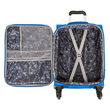 "Skyway Mirage 2.0 | 4-Piece Set | 20"", 24"" and 28"" Expandable Spinners, Travel Pillow (Blue Royal)"