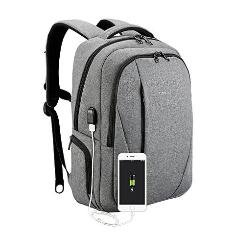 Tigernu Slim Business Laptop Backpack Anti Thief Water Resistant With Usb Charging Port College