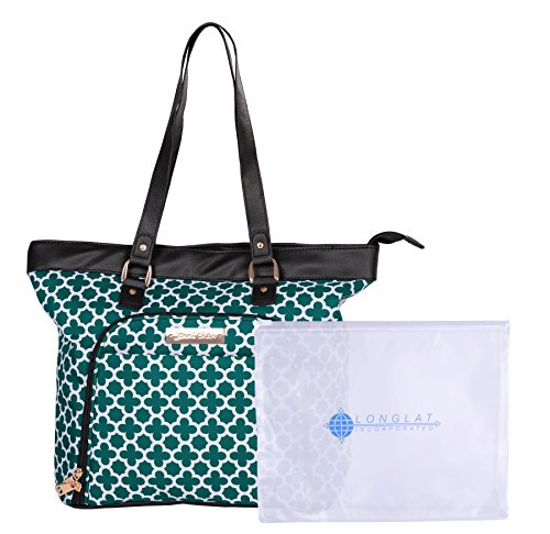 "Jenni Chan Medley 2-Piece Set 18"" Computer 311 Bag Laptop Tote, Green, One Size"