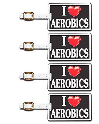 Tag Crazy I Heart Aerobics Four Pack, Black/White/Red, One Size
