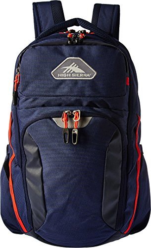 High Sierra Autry Laptop Backpack, Maritime/Redline