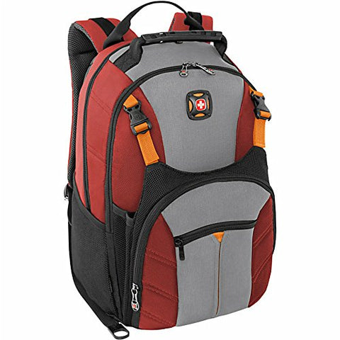 Swissgear Sherpa 16 Laptop Backpack Travel School Bag - Red