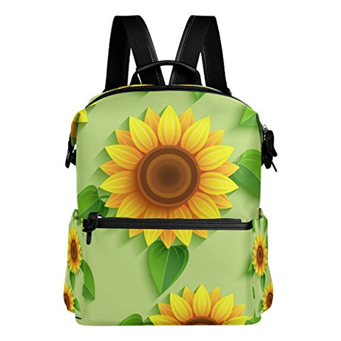 Colourlife Vivid Sunflowers Stylish Casual Shoulder Backpacks Laptop School Bags Travel