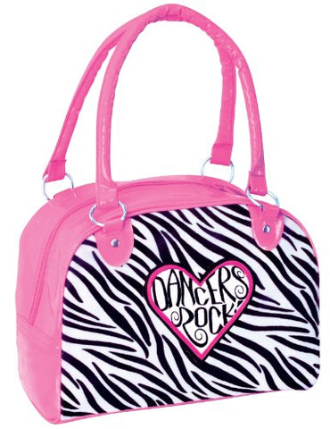 Dansbagz Dancers Rock Zebra Duffel Bag One Size Pink