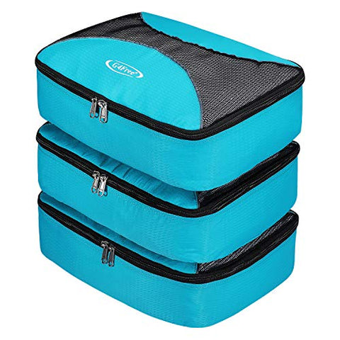 3pcs Set Packing Cubes, G4Free Luggage Packing Organizers Accessories Bags For Travel (3pcs:Blue)