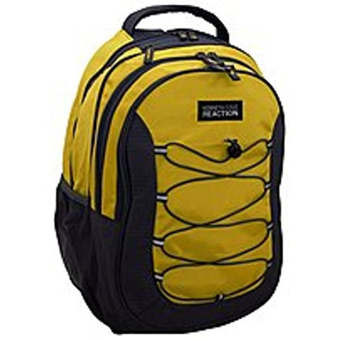 Kenneth Cole Reaction Laptop Backpack With Bungee Cords (Yellow/Gray)
