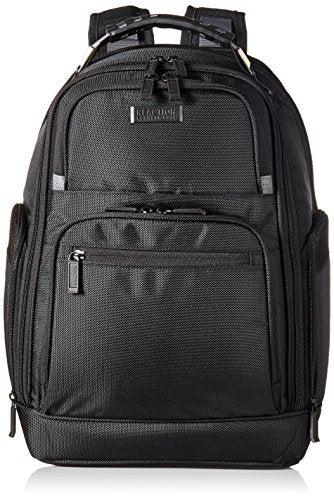 "Kenneth Cole Reaction 1680d Poly Expandable Double Gusset 17.0"" Computer Backpack, Black, One Size"