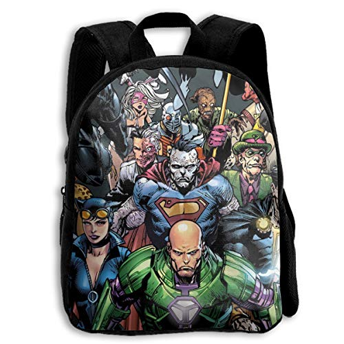 Vill-ains SuperHero Kids Backpack Children Bookbag Cool School Bag For Teen,Boys&Girls