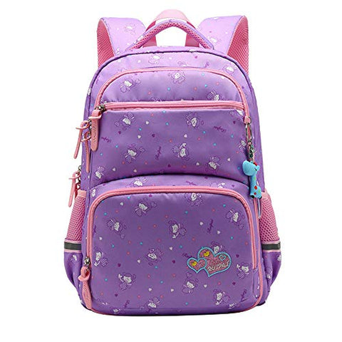Fanci Pretty Girls Heart Prints Preschool Bookbag Bagpack Waterproof Primary School Backpack Book