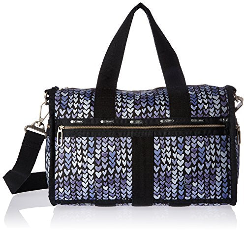 LeSportsac Women's Essential Small Weekender, Painted Hearts Blue