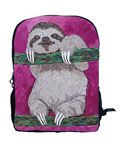 Sloth Backpack, Sloth Book Bag - Support Wildlife Conservation - Read How - From My Original Painting