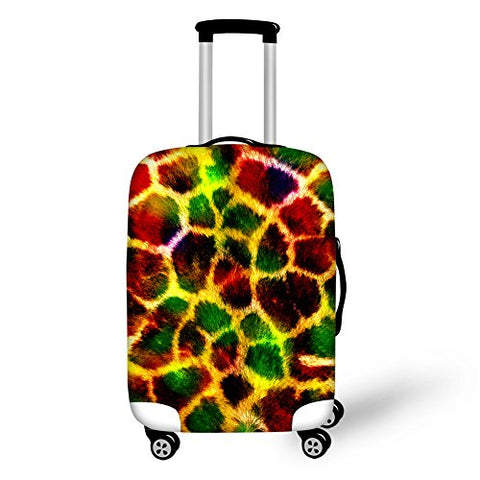 Hugs Idea Giraffe Pattern Stylish Durable Dustproof Travel Luggage Productive Cover With Zipper For