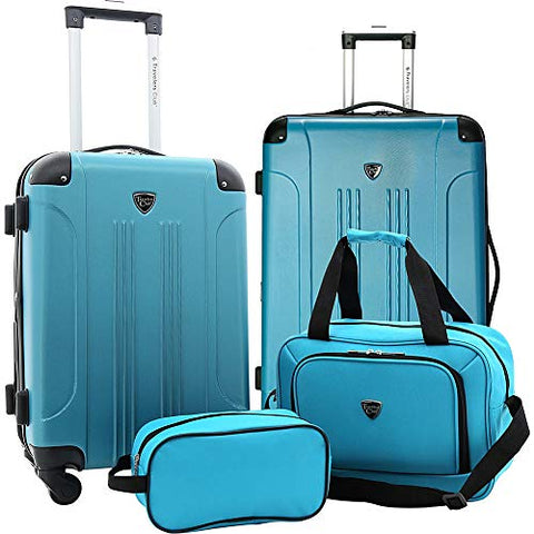 Travelers Club Luggage Chicago Plus 4Pc Expandable Luggage Set, Teal