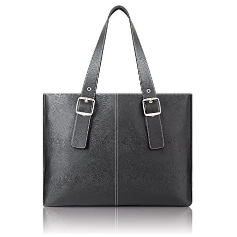 Solo Plaza 15.6 Inch Laptop Tote, Black