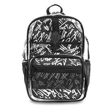 J World New York Boys' Clear Transparent Backpack, Script, One Size
