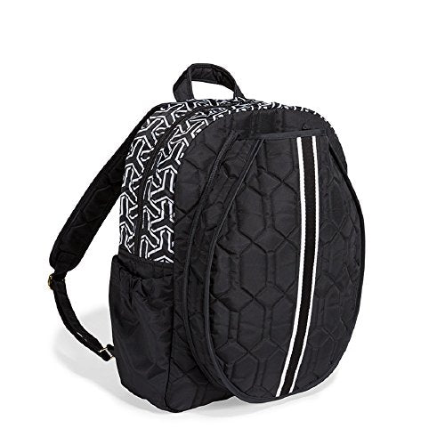 cinda b Tennis Backpack, Jet Set Black, One Size