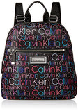 Calvin Klein Belfast Nylon Key Item Zip Around Backpack, Black/Multi