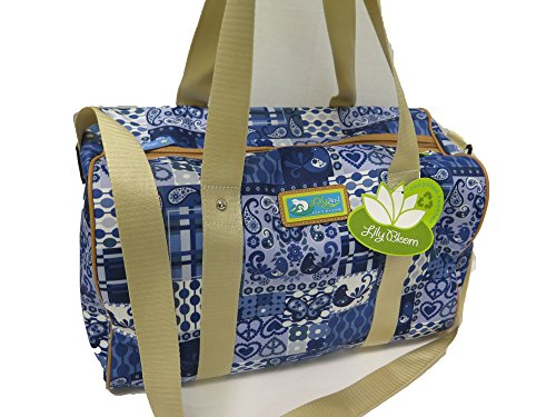 Lily Bloom LITTLE HOUSE ON THE PRAIRIE DENIM Nylon Tara Overnight Duffle Bag