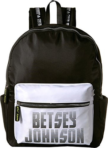 Betsey Johnson Women's Sporty Logo Backpack Black One Size