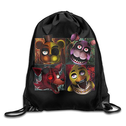 Five Nights At Freddys Drawstring Backpack Travelling Bag