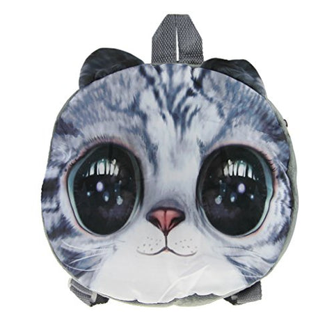 FakeFace Round 3D Animal Toddlers Kid's Backpack Snack Bag School Bag