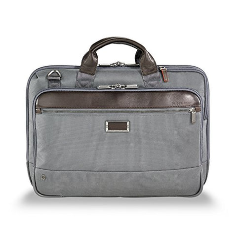 Briggs & Riley @Work Slim Briefcase, Gray