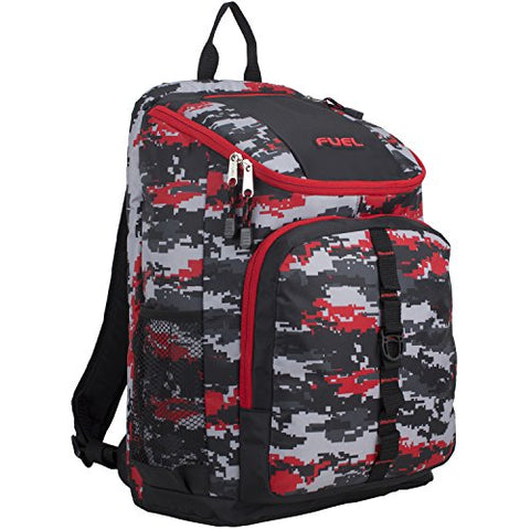 Fuel Wide Mouth Sports Backpack with Laptop Compartment for School, Travel, Outdoors