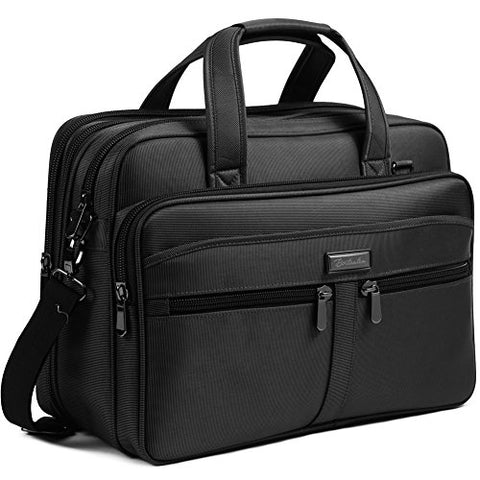 BOSTANTEN 17 inch Laptop Bag Case Expandable Briefcases for men Hybrid Computer Water Resisatant