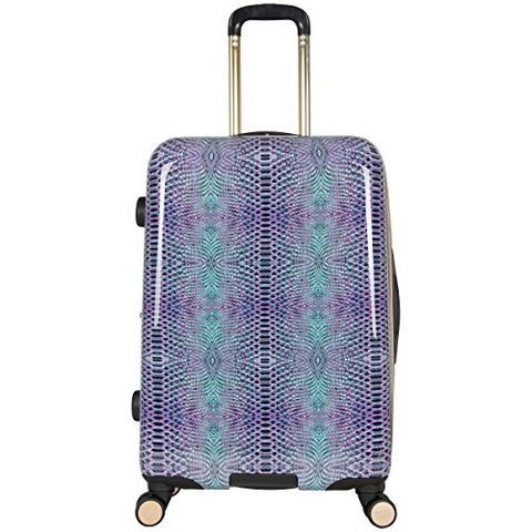 "Aimee Kestenberg Women's Ivy 24"" Hardside Expandable 8-Wheel Spinner Checked Luggage, Marine Python 