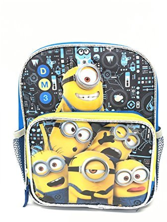 "Despicable Me Minions 3 10"" Toddler Canvas Blue School Backpack"