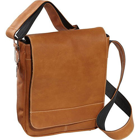 David King & Co. Deluxe Medium Flap-Over Messenger, Tan, One Size
