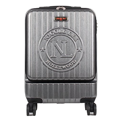 Nicole Lee Women'S Carry On [Grey] Hard Shell Travel Luggage, Laptop Compartment Rolling Wheels,