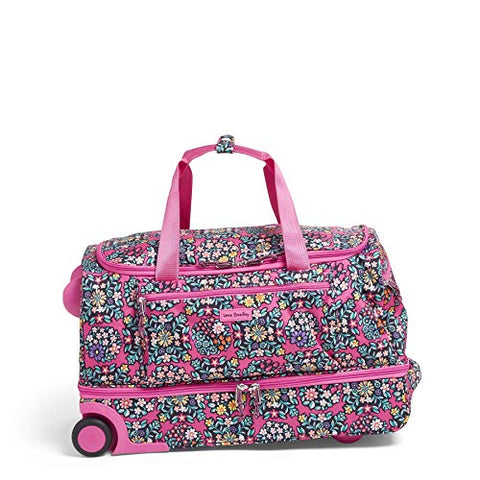 Vera Bradley Lighten Up Foldable Rolling Duffel, Kaleidoscope Rosettes