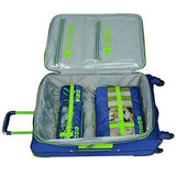 U.S Traveler Alamosa 6-Piece Luggage Set - 3 Spinners And 3 Packing Cubes - Royal Blue
